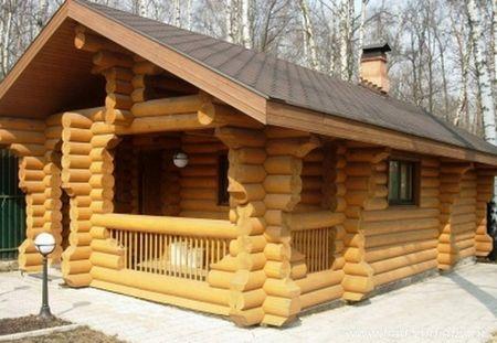 Обработка деревянной бани антисептиком
