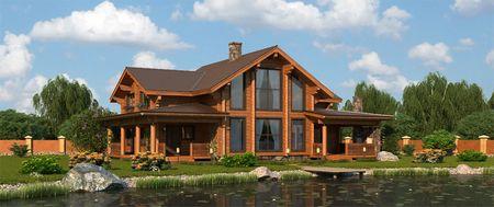 оригинальный дом из лафета